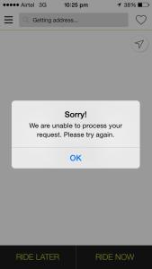 ola crappy app