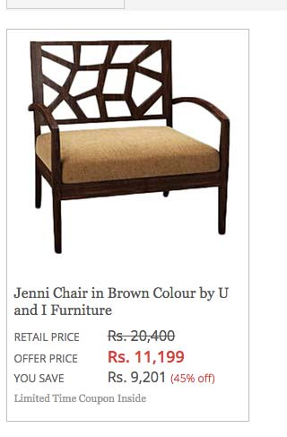 u&i furniture pepperfry